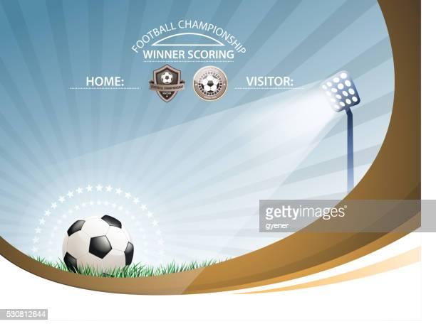 soccer competition - floodlit stock illustrations