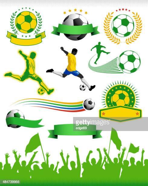 soccer design elements - insignia stock illustrations