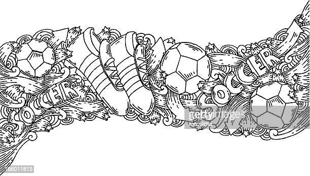 Best Black And White Soccer Ball Illustrations Royalty