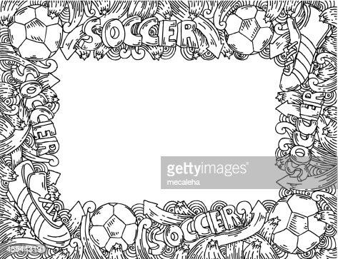 Soccer Doodles Frame Vector Art | Getty Images