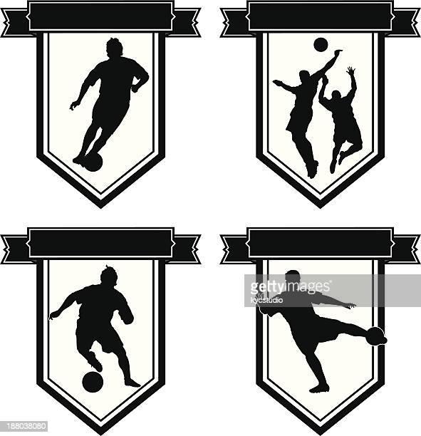 サッカーエンブレムセット