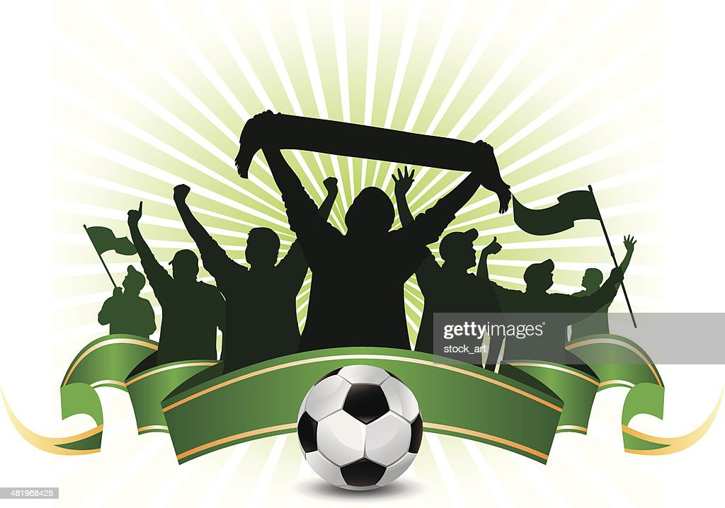 soccer fans : stock illustration