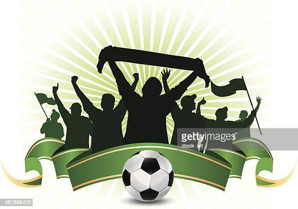 soccer fans - fan enthusiast stock illustrations, clip art, cartoons, & icons