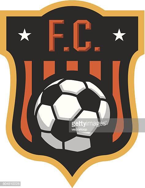 soccer f.c. crest - soccer uniform stock illustrations