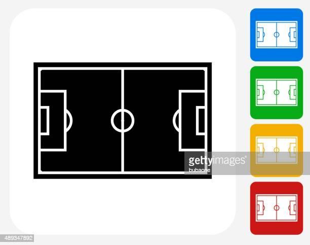 Soccer Field Icon Flat Graphic Design