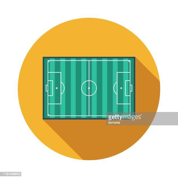 サッカーフィールドアイコン - ゴールポスト点のイラスト素材/クリップアート素材/マンガ素材/アイコン素材