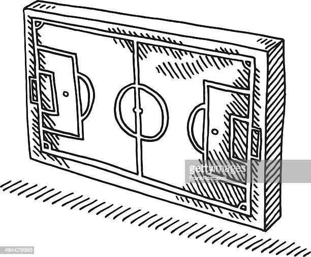 Fußballplatz Symbol Abbildung