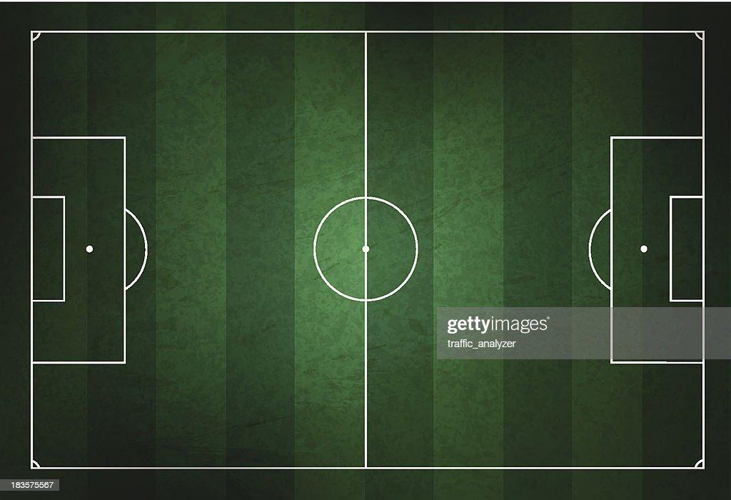 Soccer field : stock illustration