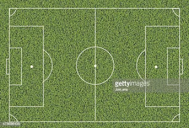 soccer field - football field stock illustrations, clip art, cartoons, & icons