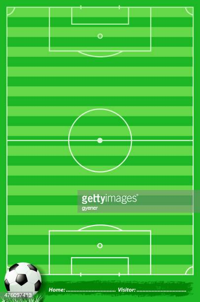 soccer field - midfielder soccer player stock illustrations