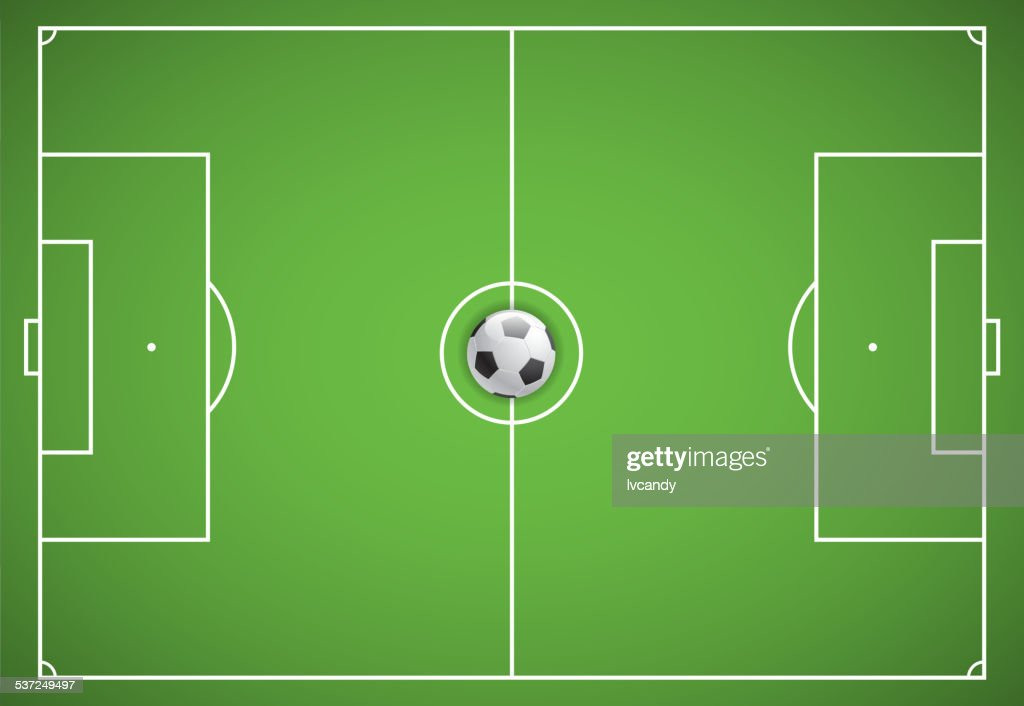 Soccer field : stock illustration