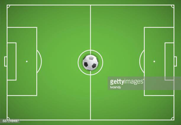 soccer field - football field stock illustrations, clip art, cartoons, & icons