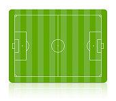 Soccer field. Vector.