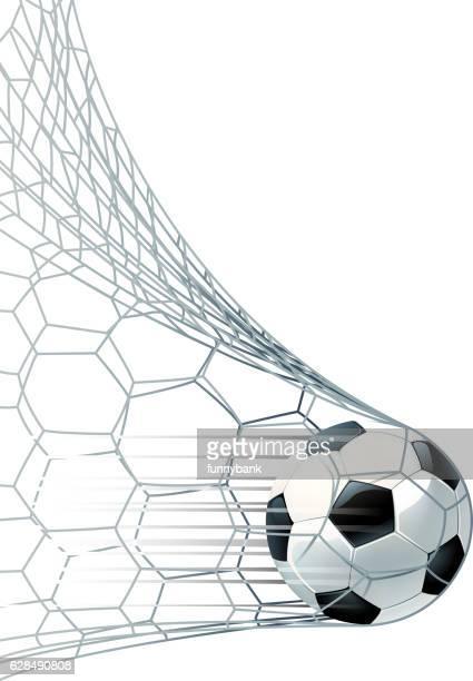 サッカー決勝得点 - ゴールネット点のイラスト素材/クリップアート素材/マンガ素材/アイコン素材