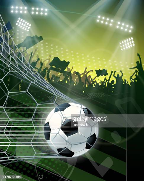 soccer finally goal - soccer competition stock illustrations
