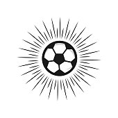 Soccer Football ball Vector Template Design Illustration