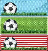 Soccer football banner sets