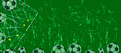 Soccer / Football design template, background or website banner
