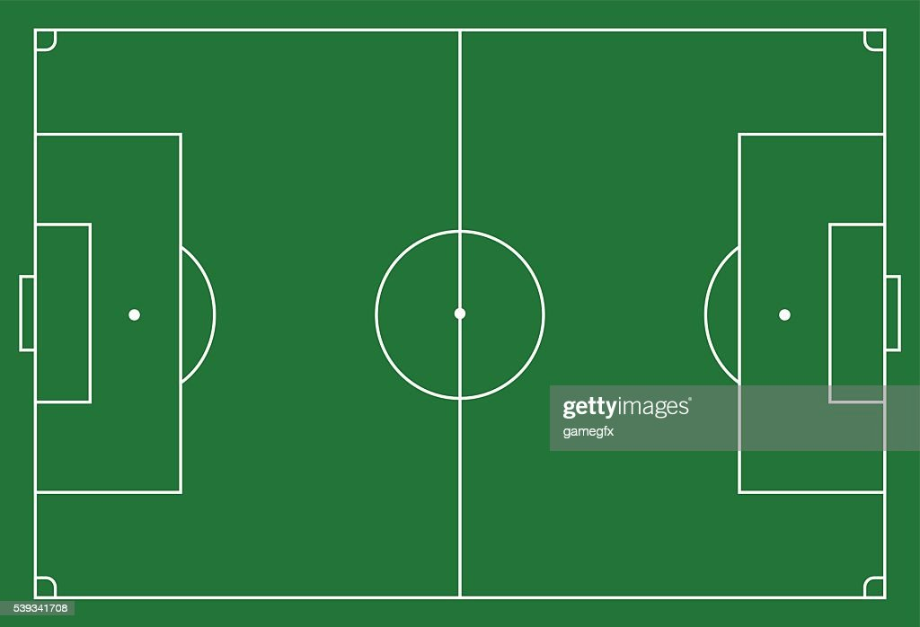 Soccer, football field, infographics, flat, app
