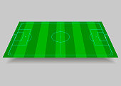 Soccer, football field. Playing field on the grey background