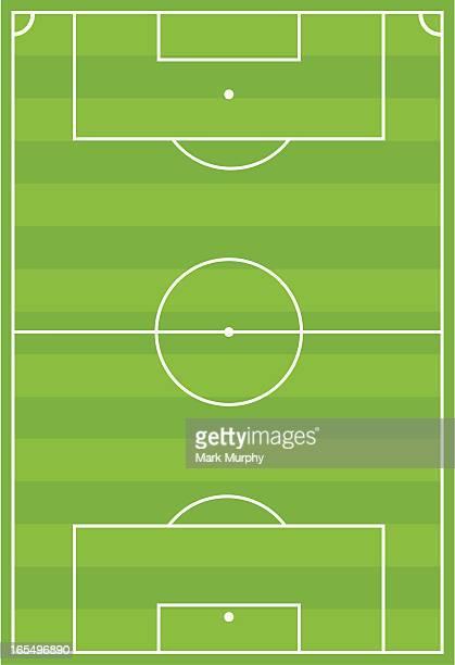 Terrain de Football à rayures horizontales
