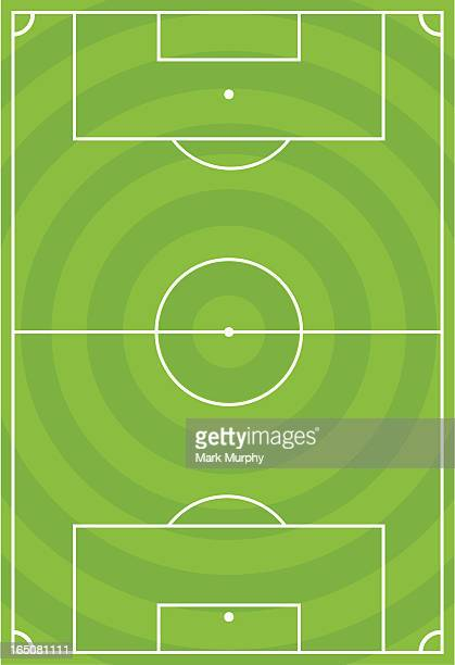 Soccer Football Pitch with Circular Design.