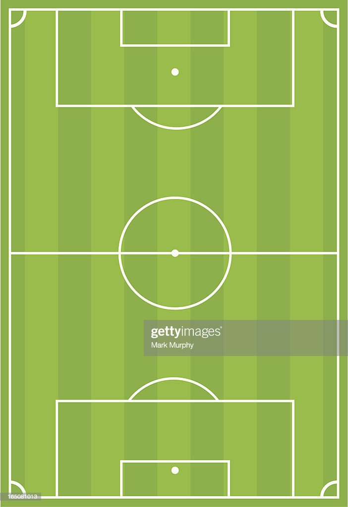Soccer Football Pitch with Stripe Design : stock illustration