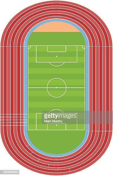 Soccer Football Pitch with Track