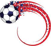Soccer football power star shape lines