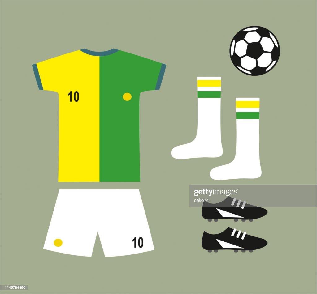 Soccer football team uniform set : stock illustration
