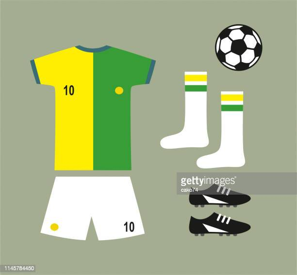 Soccer football team uniform set