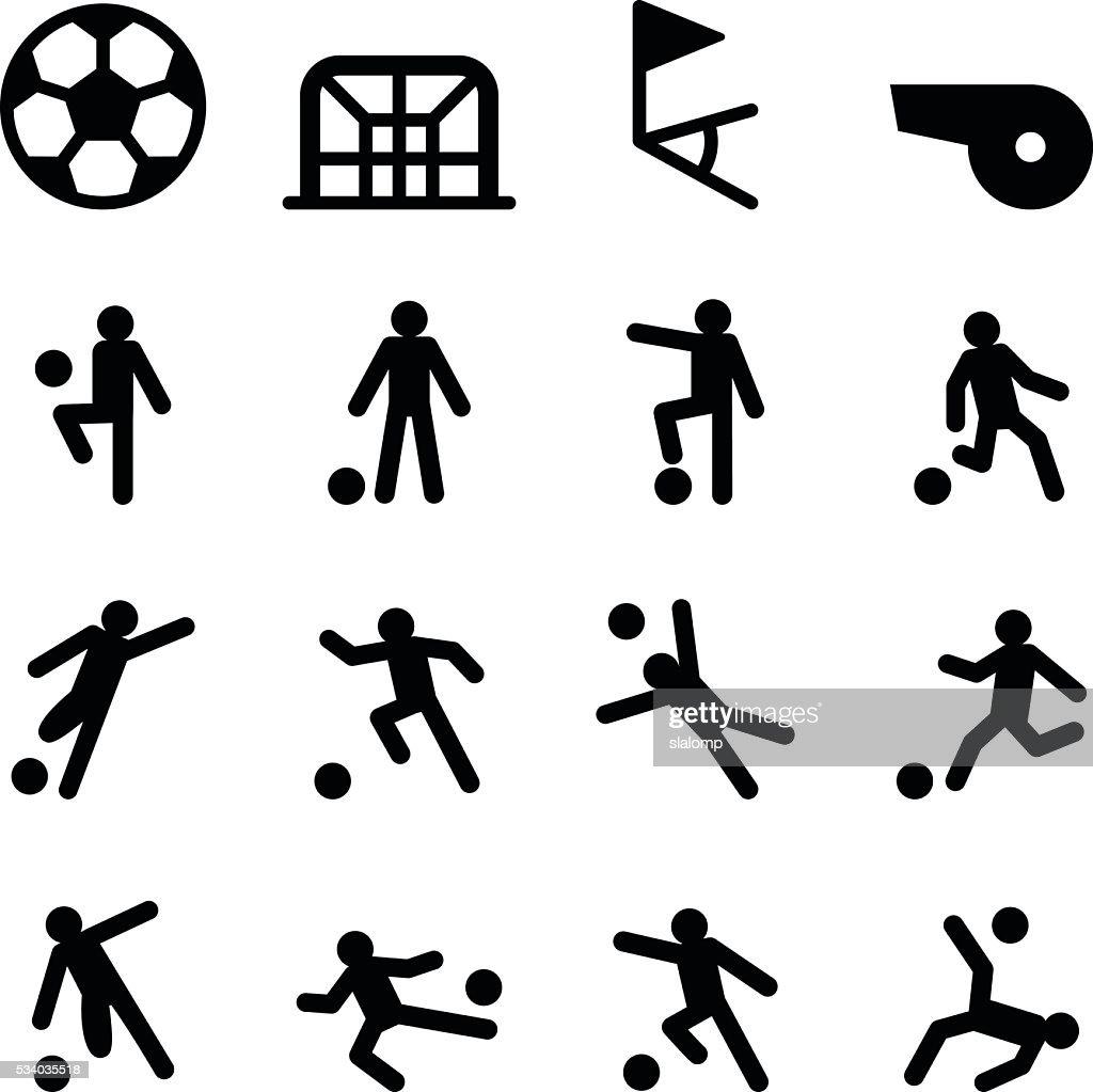 Soccer / Football training icon set