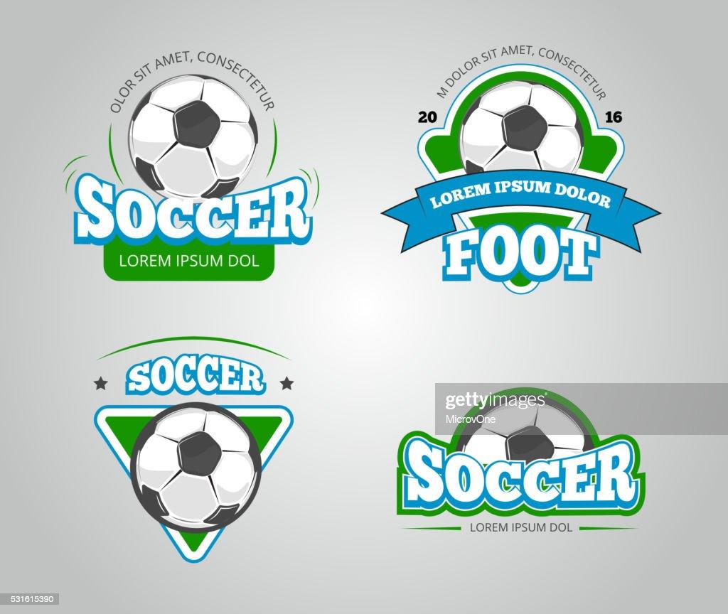 Soccer Football Vector Badges Tshirt Design Templates Vector Art