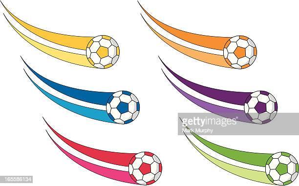 Soccer Footballs with Swirls