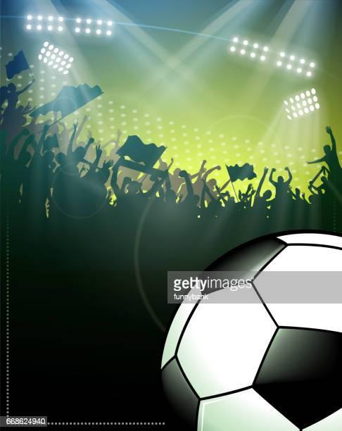 soccer fun silhouette