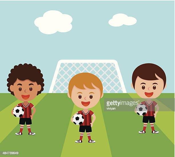 soccer fun - school uniform stock illustrations, clip art, cartoons, & icons