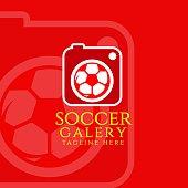 Soccer Gallery Vector Template Design