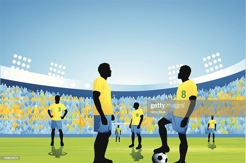 Soccer game kick off