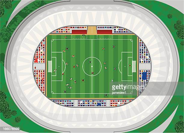 soccer game - match sport stock illustrations, clip art, cartoons, & icons