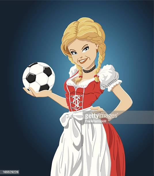 Fußball Mädchen Dirndl