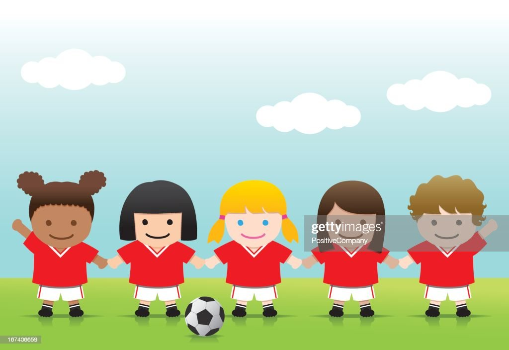 Soccer Girls : Vector Art