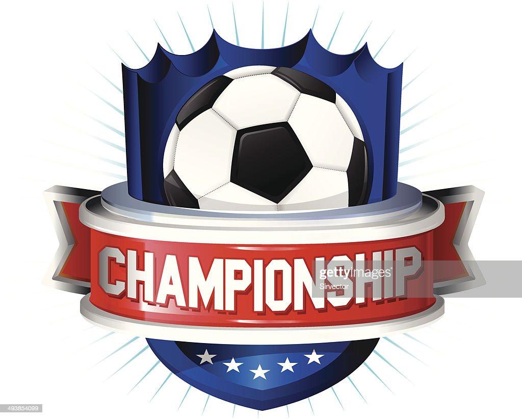 Soccer glossy shield