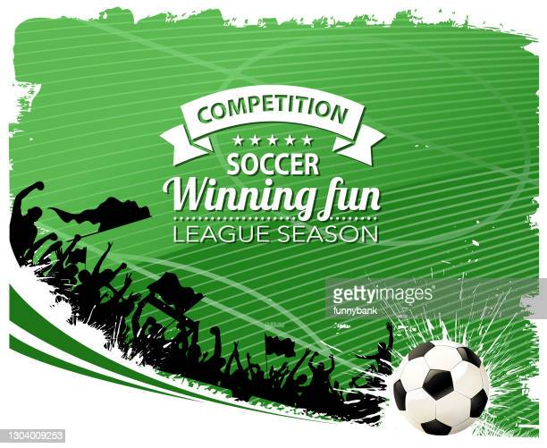 soccer goal and fun - soccer league stock illustrations