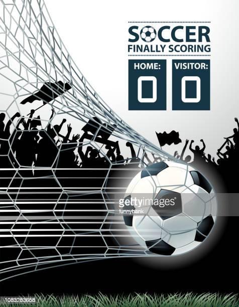 ilustrações, clipart, desenhos animados e ícones de temporada de futebol gol - rodada da competição