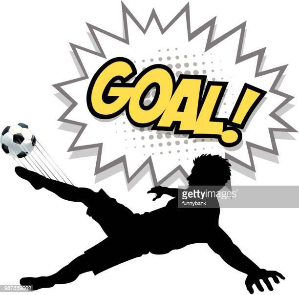 soccer goal silhouette