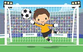 soccer goalkeeper at the gate