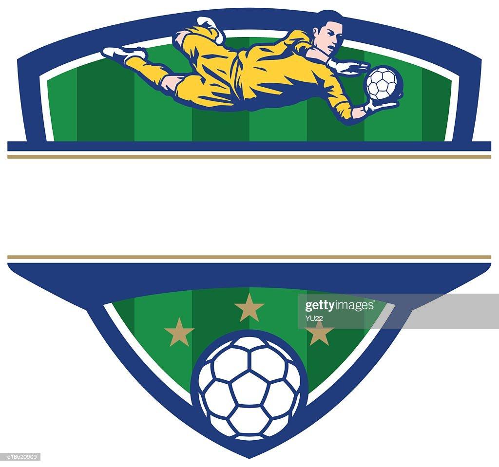 Soccer Goalkeeper Crest : Vector Art