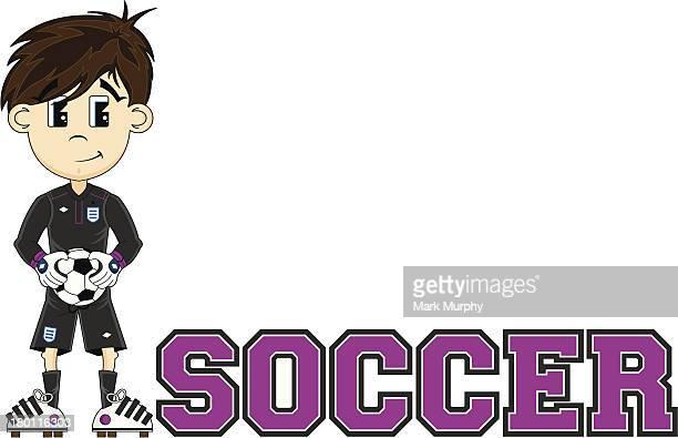 Fußball Torhüter Informationen zu lesen Illustrationen