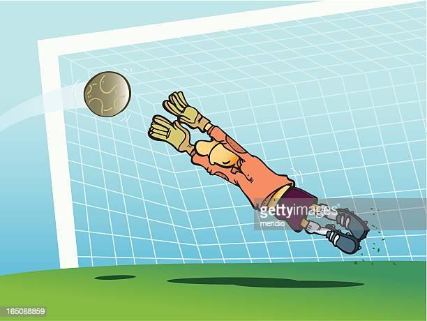 サッカー選手は創り出せる限りの発生を避けるためには、目標 - アメリカンフットボールのフィールドゴール点のイラスト素材/クリップアート素材/マンガ素材/アイコン素材