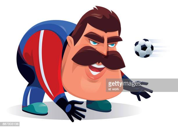 soccer goalkeeper with ball